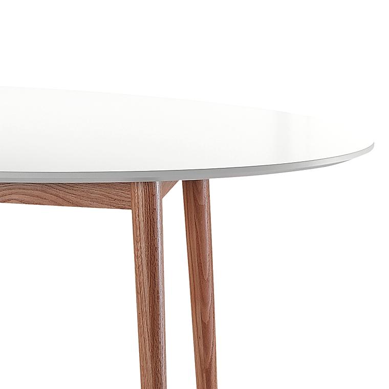 Esstisch weiß oval  Esstisch Oval Weiß/Eiche Massivholz 190x100 Küchentisch Esszimmer ...