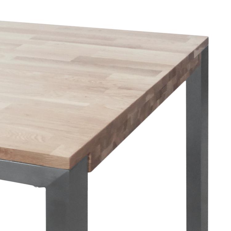 esstisch massivholz eiche/edelstahl 160x90cm küchentisch esszimmer, Esstisch ideennn