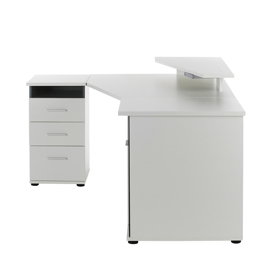 Eckschreibtisch weiß hochglanz  PC Eckschreibtisch Weiß Hochglanz Computertisch Schreibtisch ...