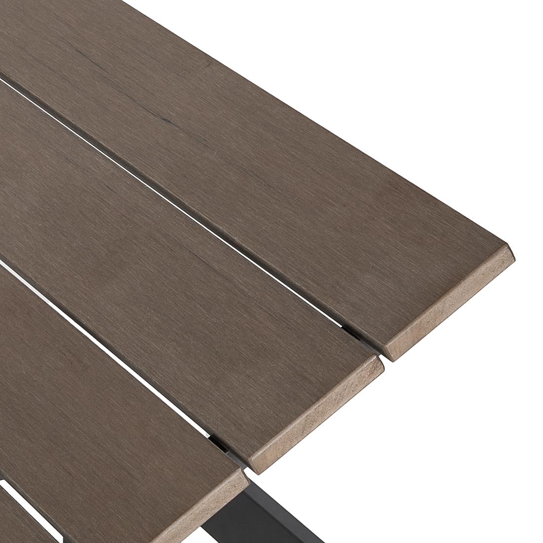 gartenliege sonnenliege aluminium kunststoff braun liegestuhl liege garten neu ebay. Black Bedroom Furniture Sets. Home Design Ideas