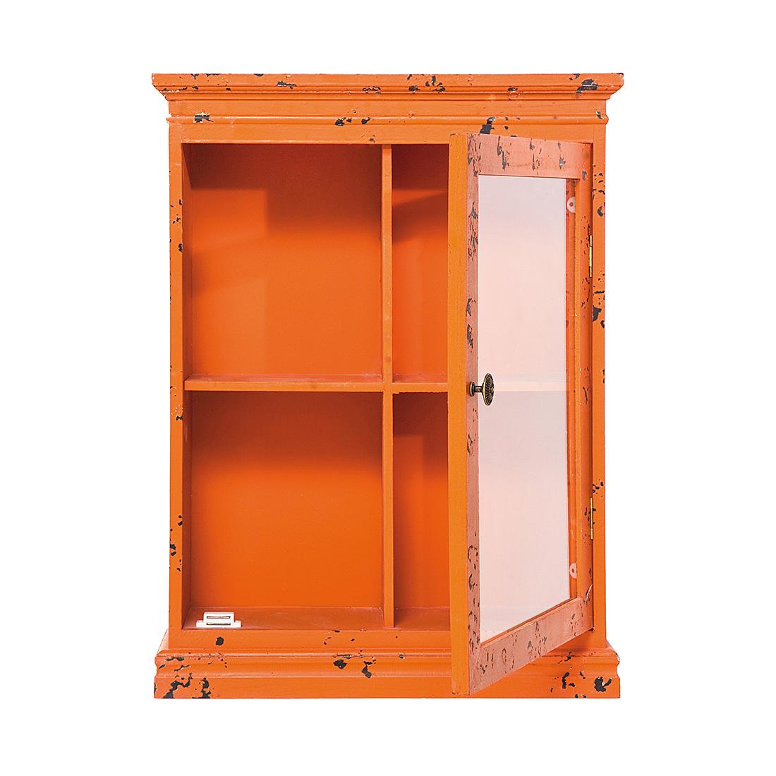 h ngeschrank vintage orange vitrine wandschrank. Black Bedroom Furniture Sets. Home Design Ideas