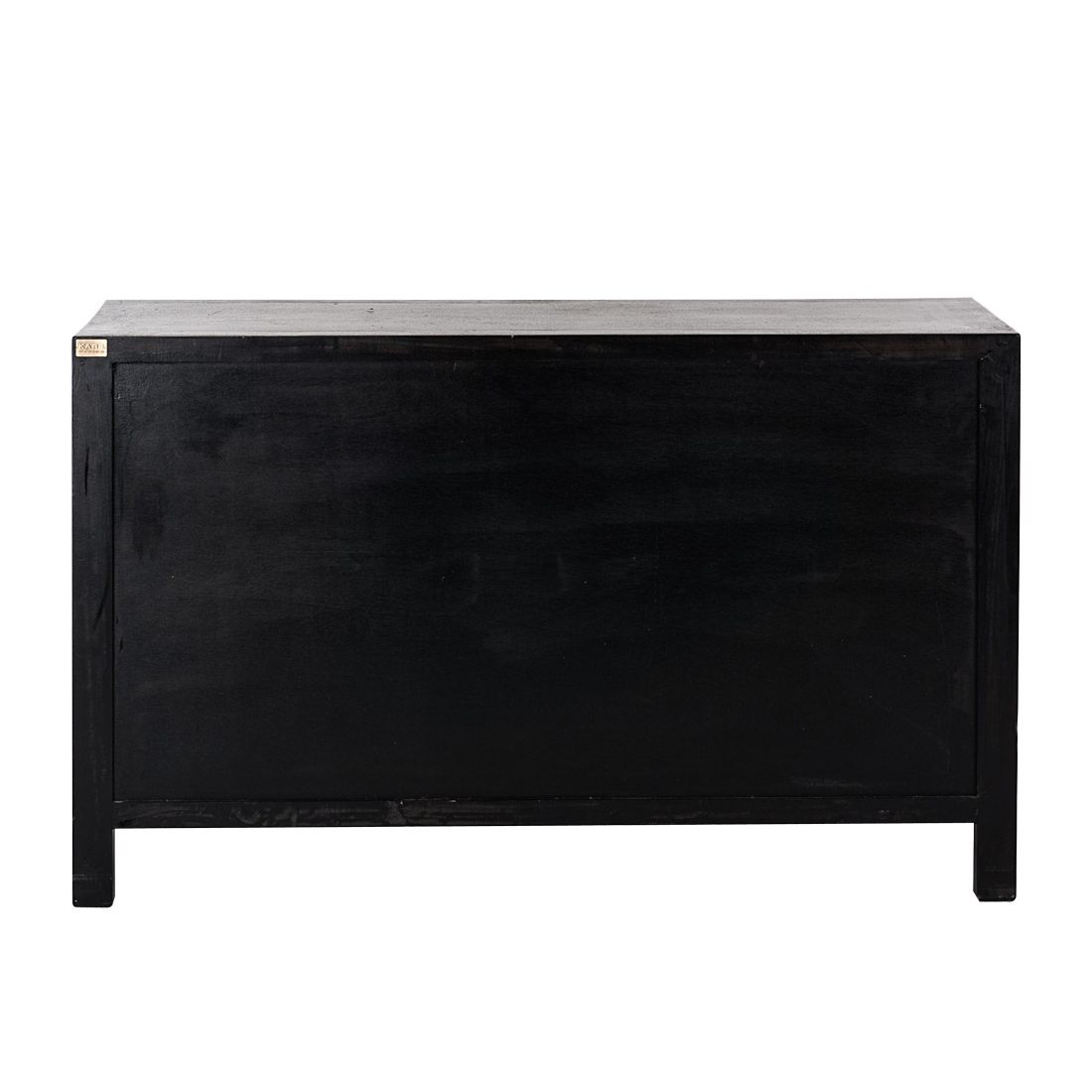 Kare design kommode sideboard pappelholz schwarz bunt for Design kommode