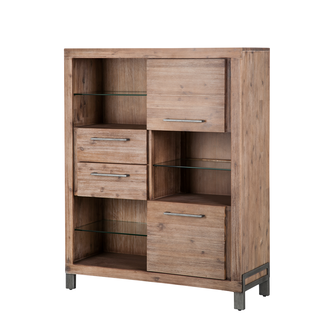 Highboard akazie massiv sideboard kommode anrichte for Sideboard kommode