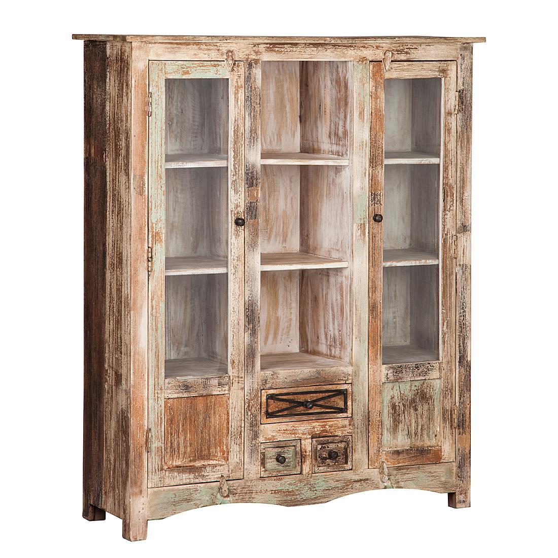 hochkommode mango holz esszimmer schrank buffet vitrine highboard vintage neu ebay. Black Bedroom Furniture Sets. Home Design Ideas