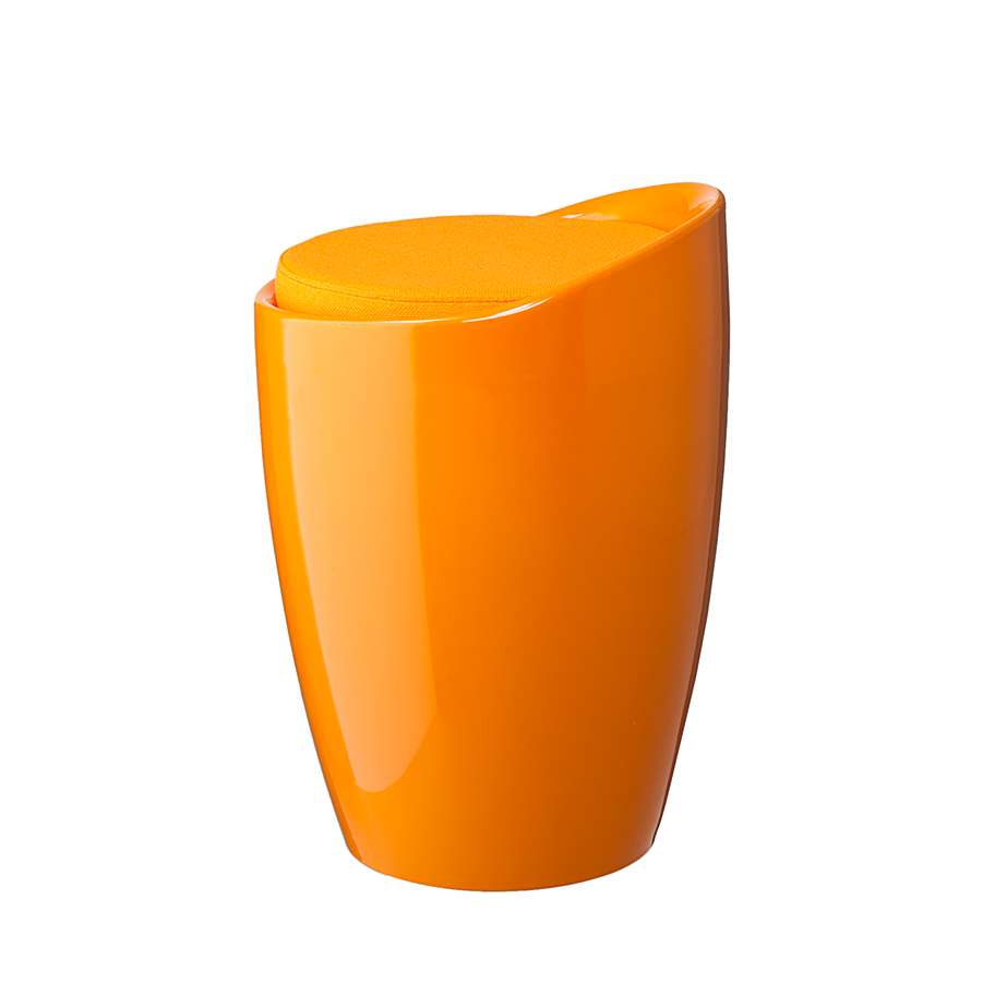 Hocker sitzhocker orange hochglanz kunststoff for Barhocker orange