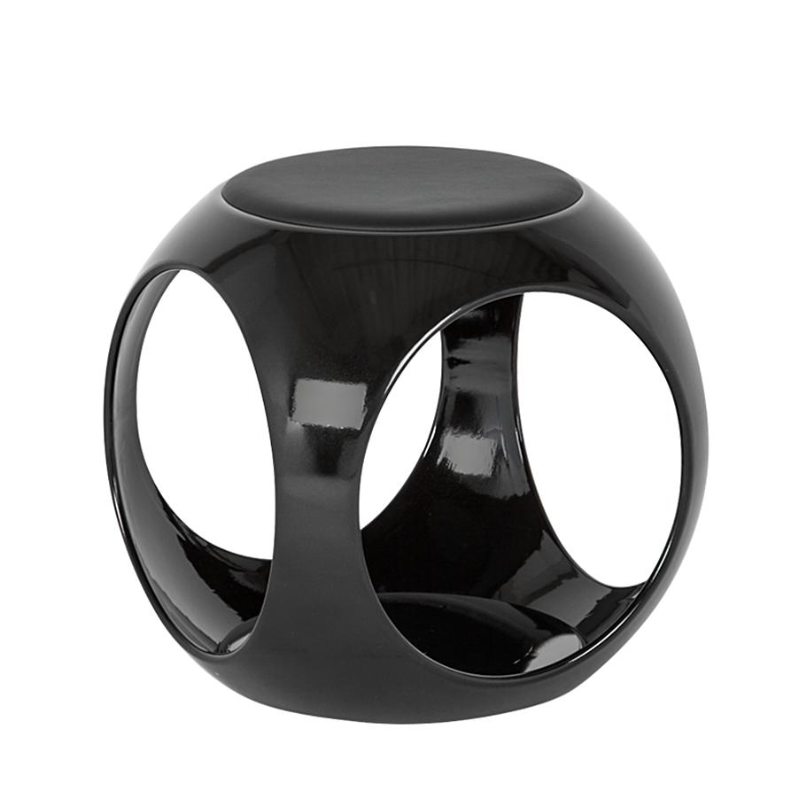 hocker fu hocker sitzhocker rund schwarz wohnzimmer. Black Bedroom Furniture Sets. Home Design Ideas