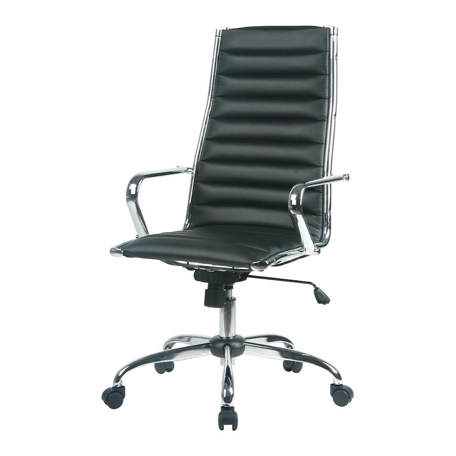 chefsessel lederoptik schwarz drehstuhl schreibtischstuhl b ro stuhl sessel neu. Black Bedroom Furniture Sets. Home Design Ideas