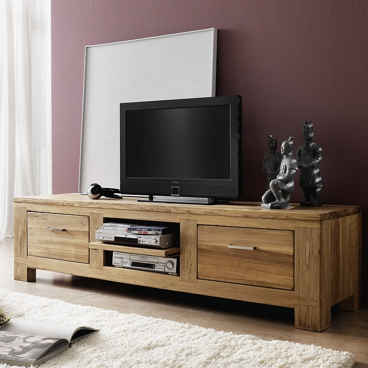 Tv rack holz for Tv tisch design