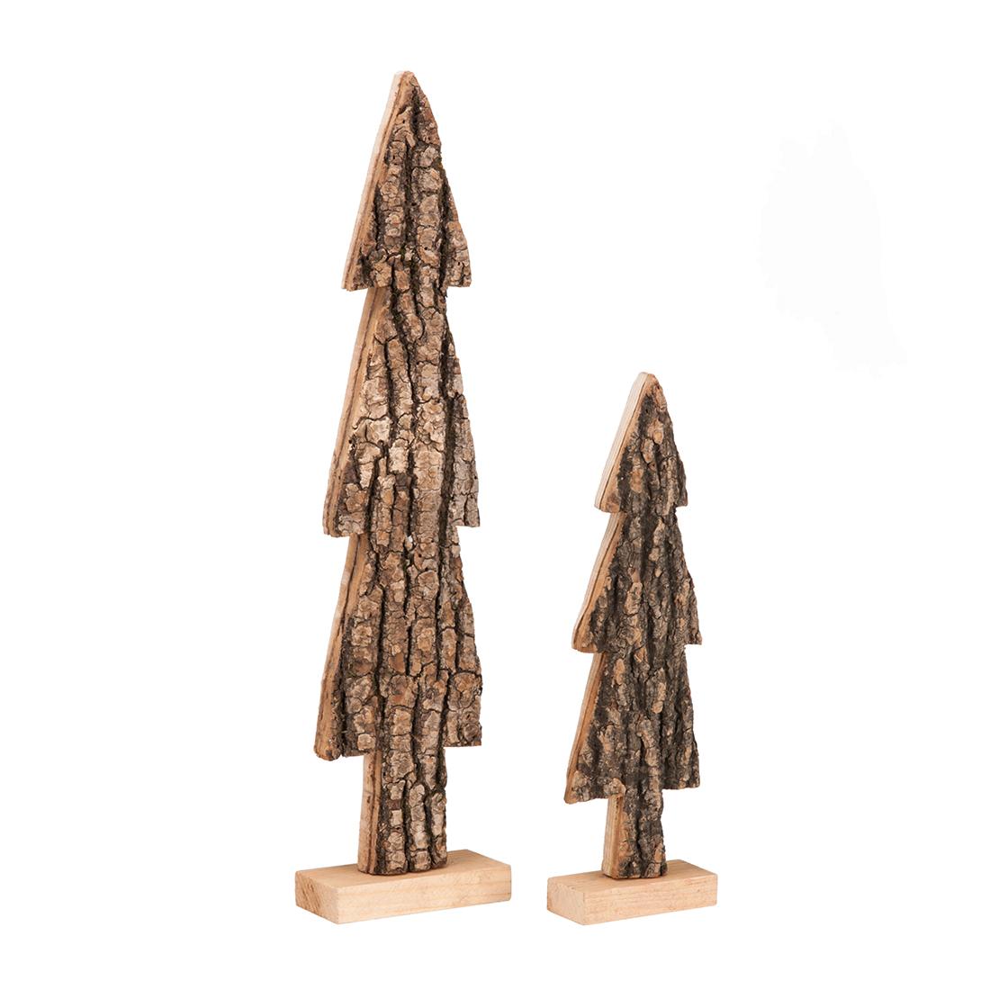 2er set deko b ume holz holzbaum weihnachten winter deko. Black Bedroom Furniture Sets. Home Design Ideas