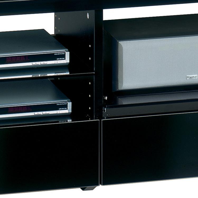 tv rack holz glas schwarzglas fernsehtisch lowboard tv hifi rack board neu ebay. Black Bedroom Furniture Sets. Home Design Ideas