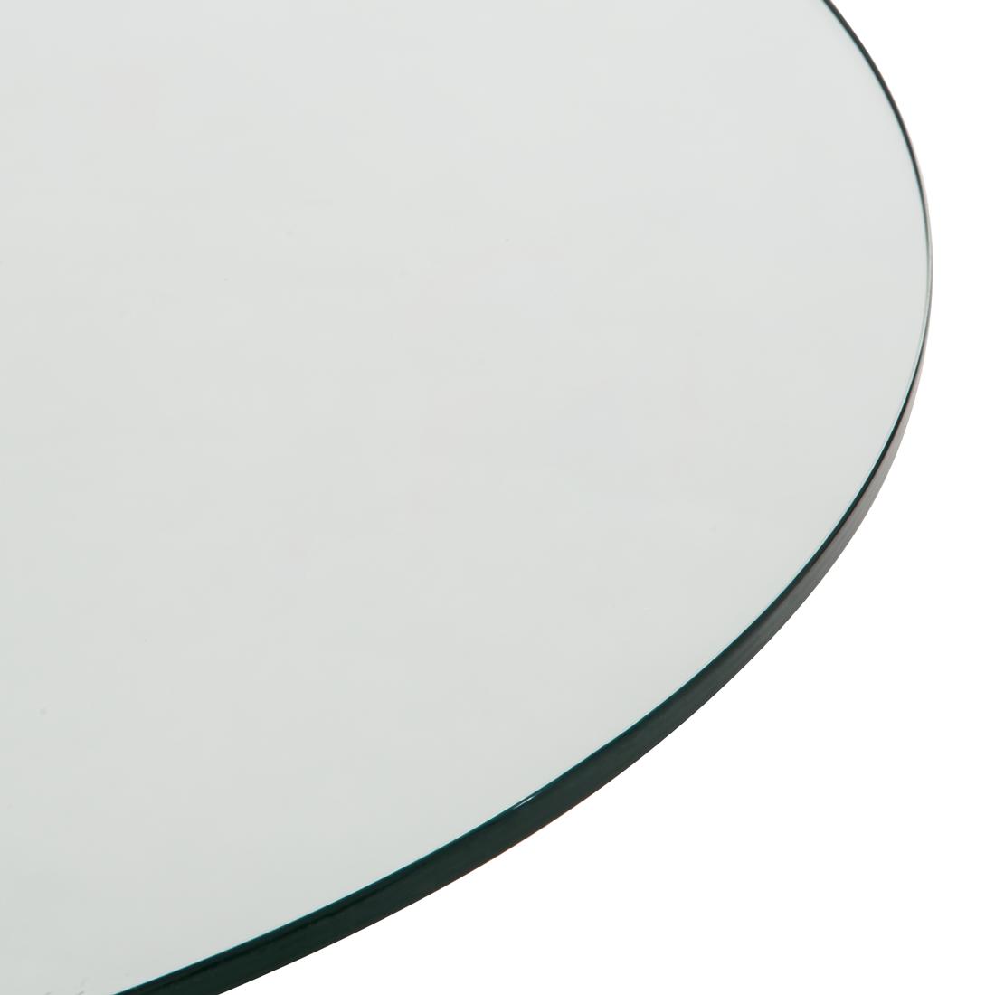 Bistrotisch rund glas chrom esstisch k chentisch bartisch for Bistrotisch rund