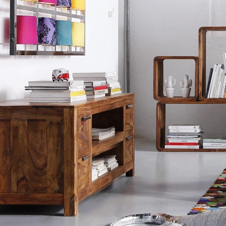 Kare Design TV-Lowboard Sheesham Massivholz Kommode ...