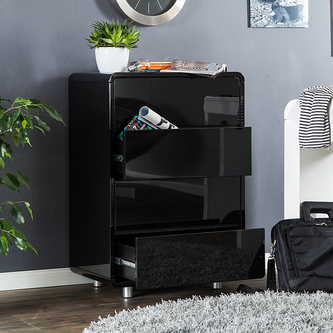 ikea kommode schwarz hochglanz neuesten. Black Bedroom Furniture Sets. Home Design Ideas
