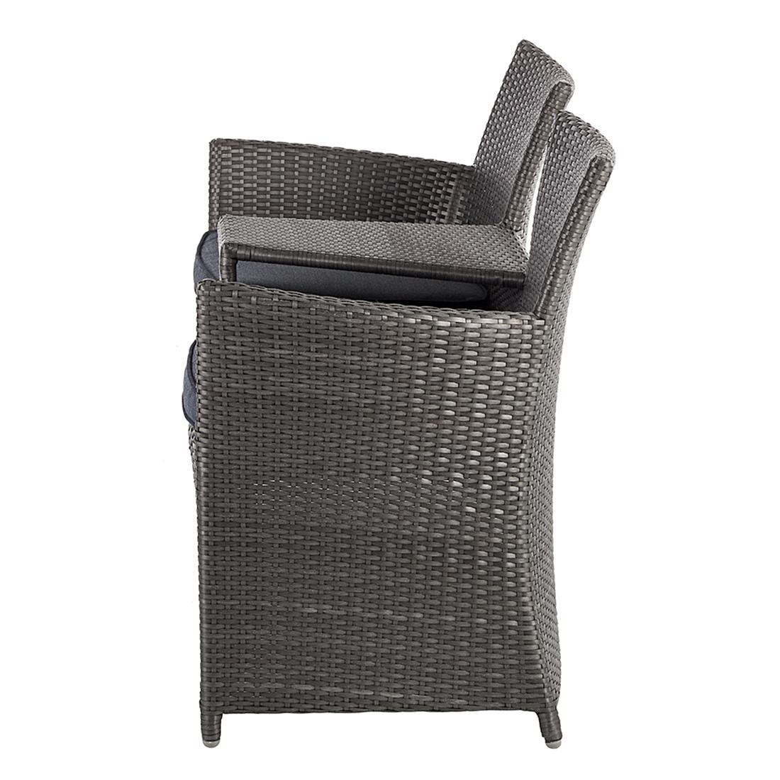 gartenbank rattan grau 162357 eine. Black Bedroom Furniture Sets. Home Design Ideas