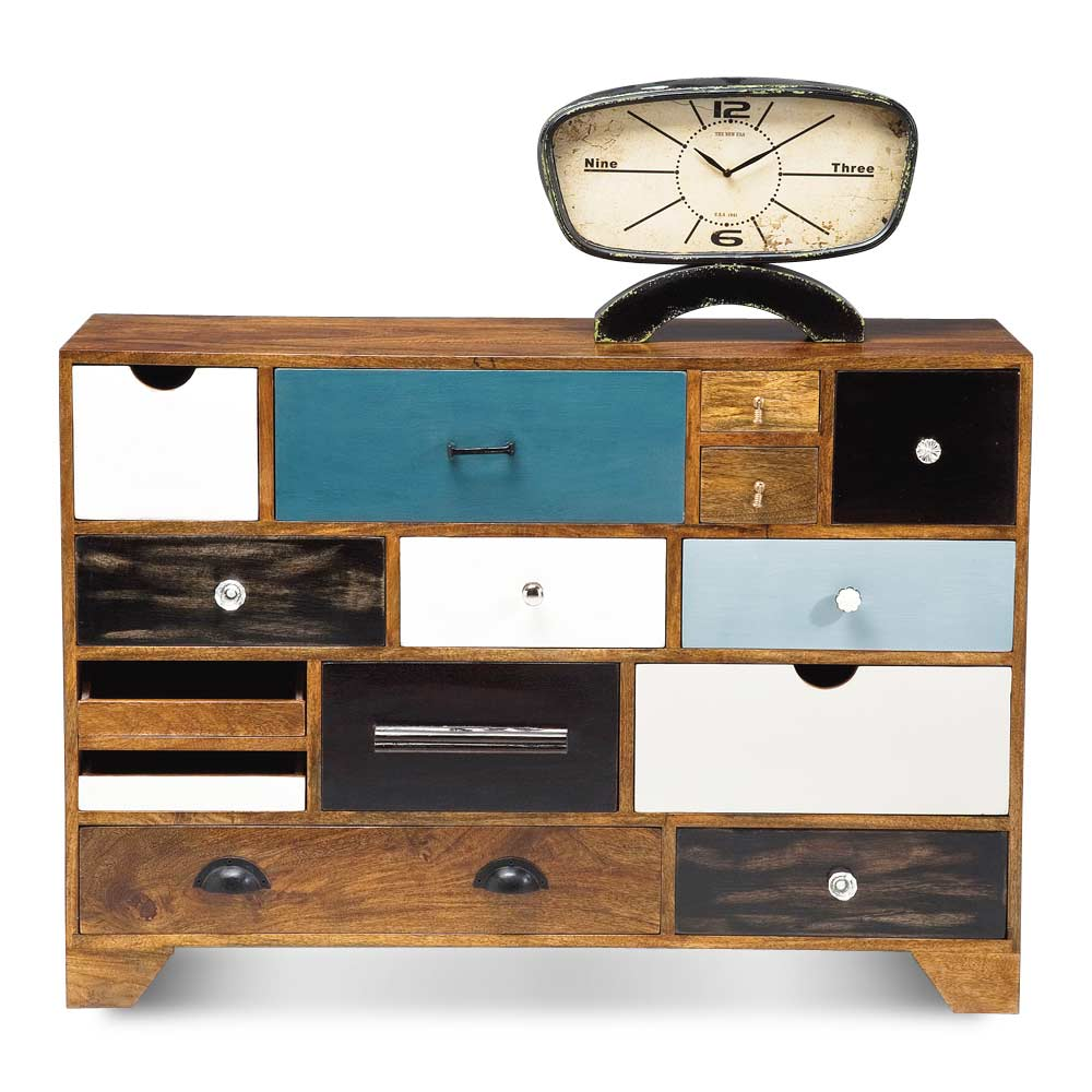 Kare design kommode massivholz mango vintage look 14 for Sideboard 35 cm tief