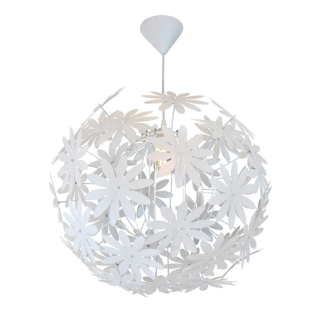 pendelleuchte deckenlampe lampe blumen metall kunststoff deko wei leuchte neu ebay. Black Bedroom Furniture Sets. Home Design Ideas