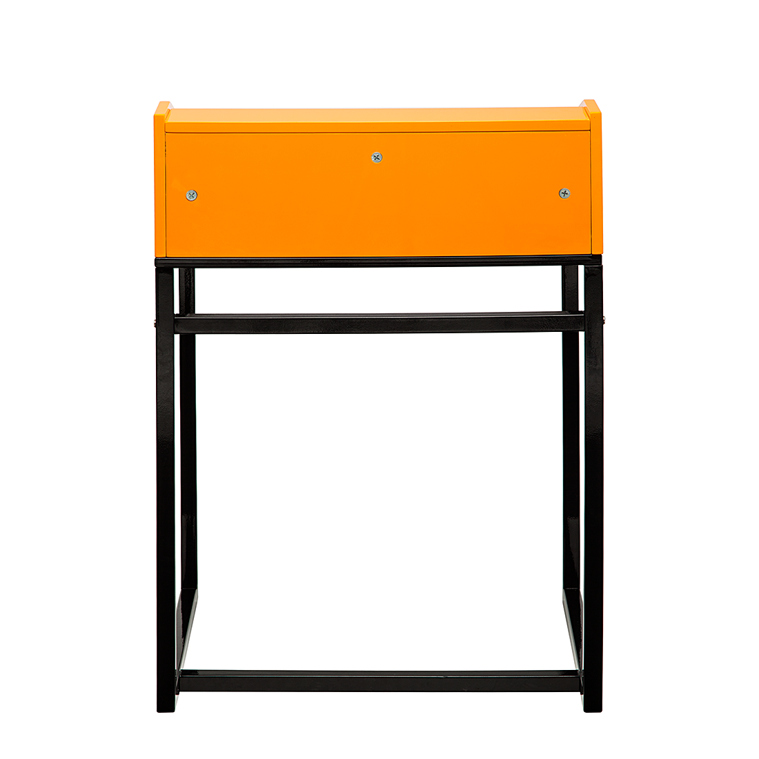 sekret r orange hochglanz schwarz schreibtisch schminktisch kinder tisch neu ebay. Black Bedroom Furniture Sets. Home Design Ideas