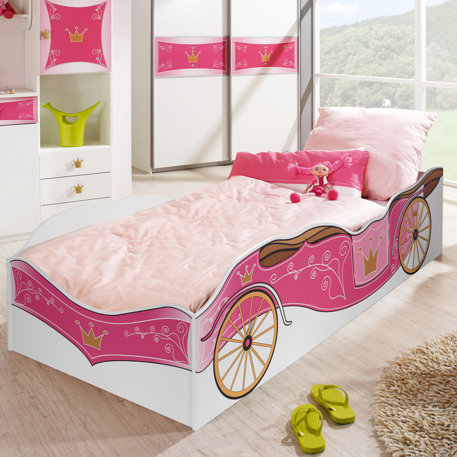 kinderbett prinzessin kutsche rosa jugendbett bett. Black Bedroom Furniture Sets. Home Design Ideas