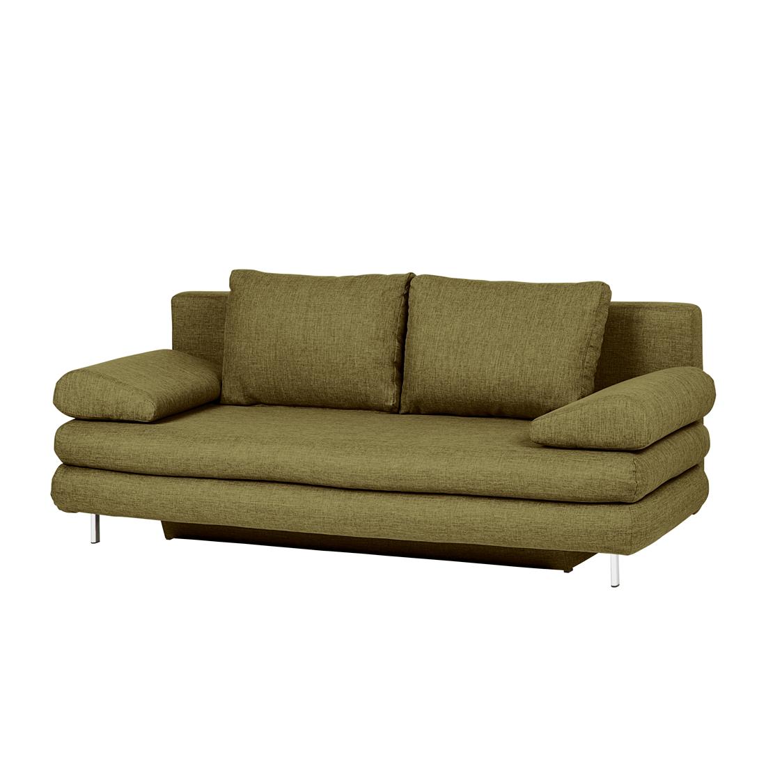 Schlafsofa webstoff gr n schlafcouch bettsofa sofa couch for Schlafsofa hochwertig