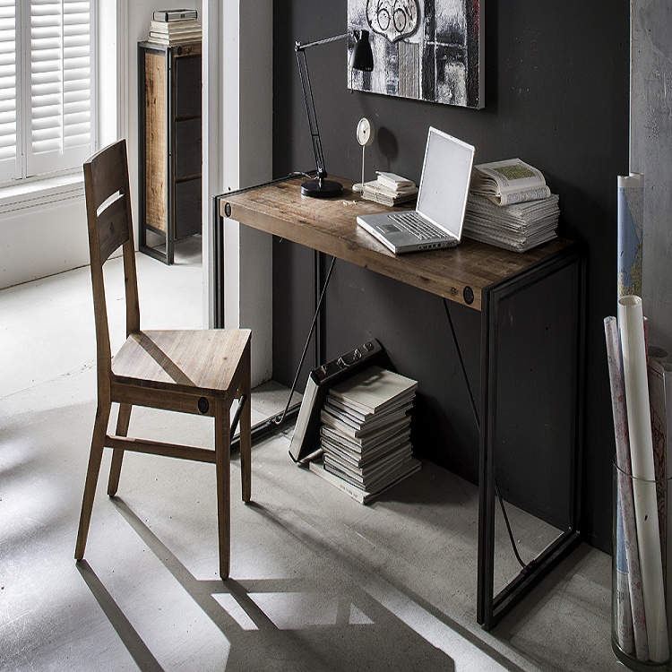 schreibtisch akazie massiv stahl b rotisch computertisch massivholz holz neu ebay. Black Bedroom Furniture Sets. Home Design Ideas