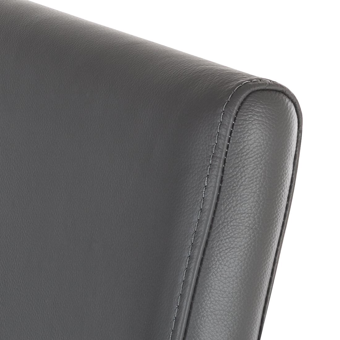 2er set esszimmerstuhl echtleder grau freischwinger leder. Black Bedroom Furniture Sets. Home Design Ideas