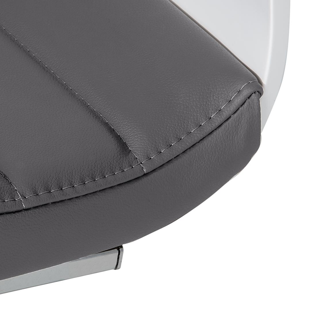 2er set freischwinger leder grau esszimmerstuhl essgruppe esszimmer st hle neu ebay. Black Bedroom Furniture Sets. Home Design Ideas