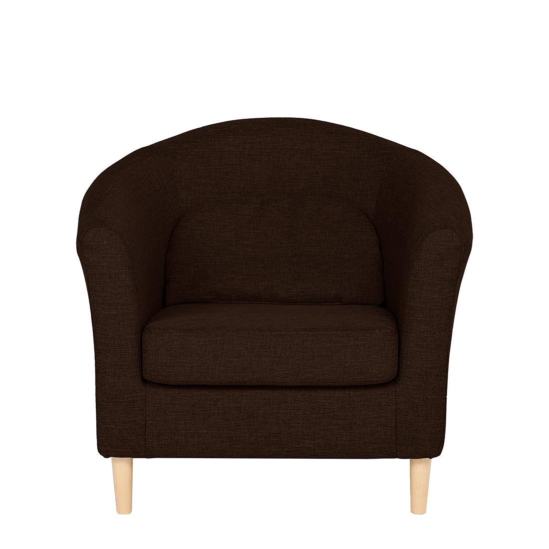 cocktailsessel braun stoff. Black Bedroom Furniture Sets. Home Design Ideas