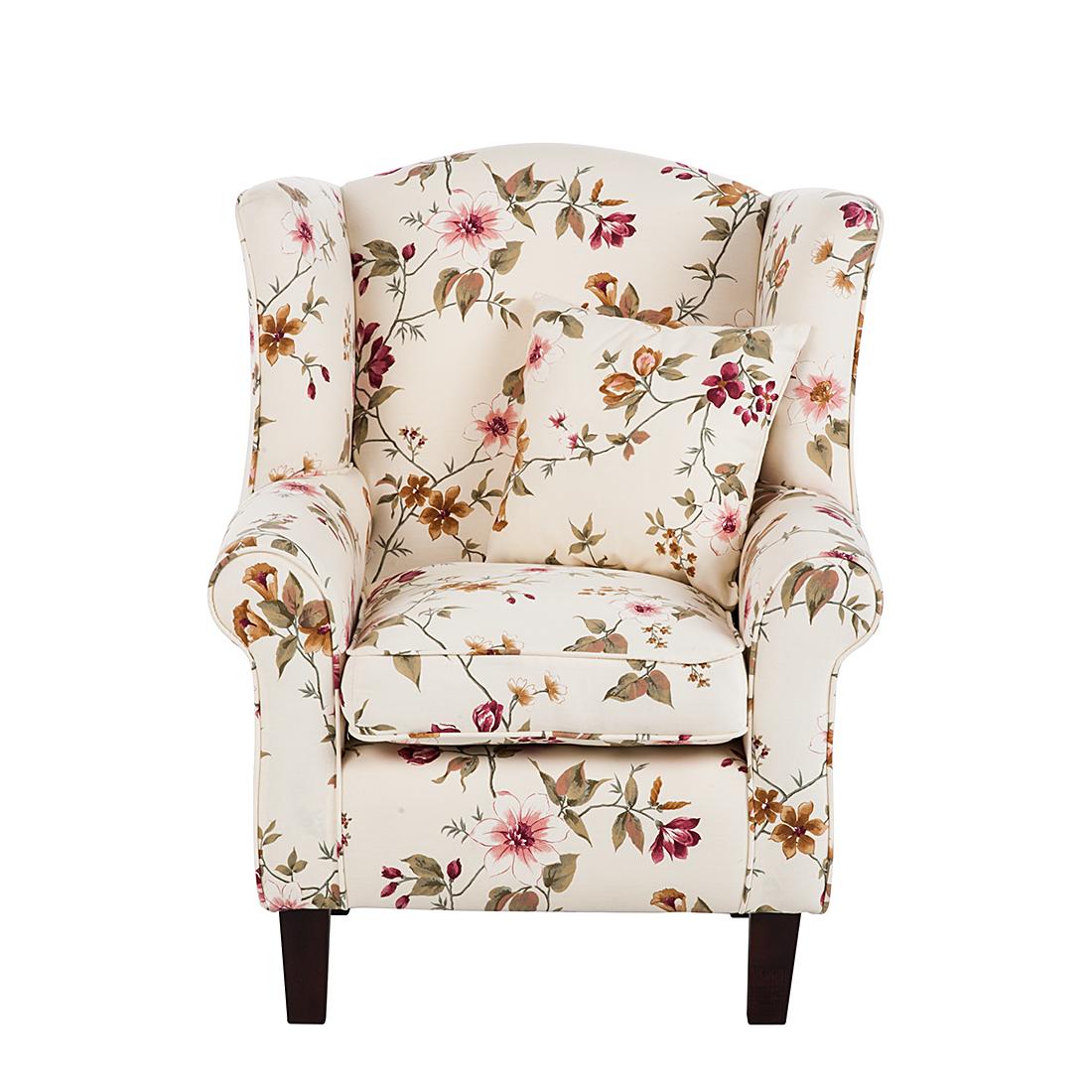 ohrensessel hocker beige blumen fernsehsessel clubsessel sessel su hocker neu ebay. Black Bedroom Furniture Sets. Home Design Ideas
