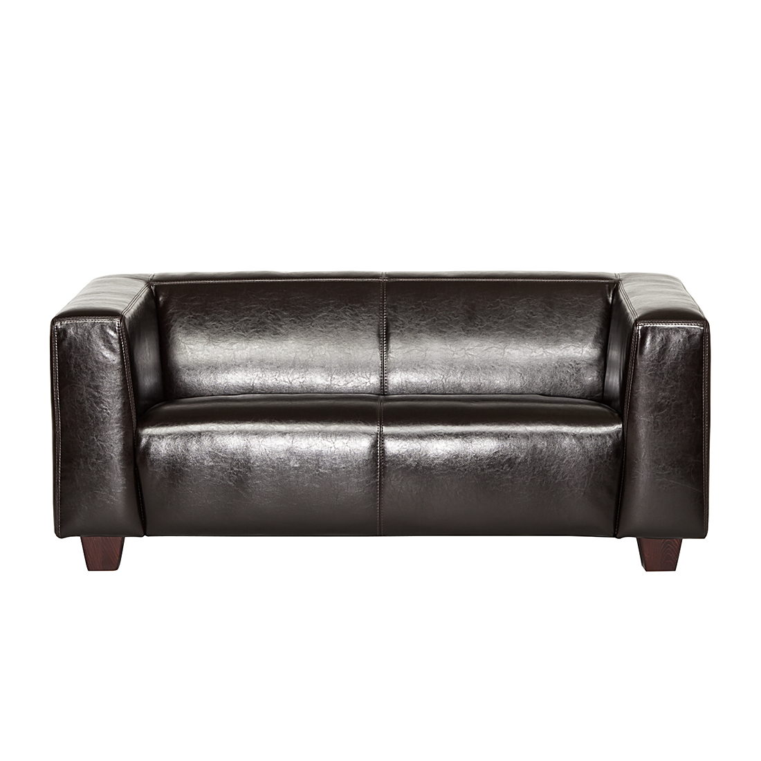 ledersofa sofa 2 sitzer echtleder braun couch leder einzelsofa dunkelbraun neu ebay. Black Bedroom Furniture Sets. Home Design Ideas