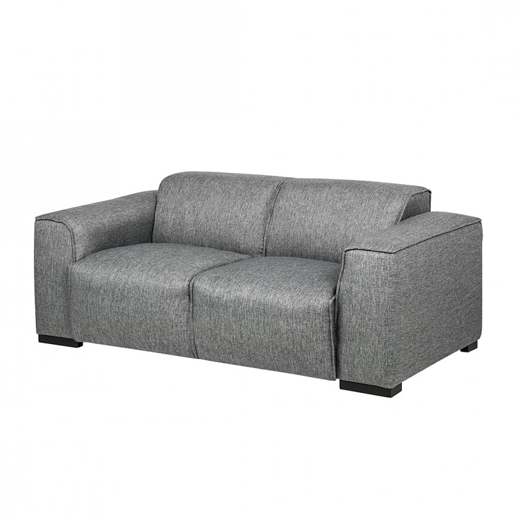 sofa stoff grau 3 sitzer couch neu ebay. Black Bedroom Furniture Sets. Home Design Ideas