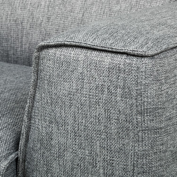 sofa stoff grau 3 sitzer couch neu ebay. Black Bedroom Furniture Sets. Home Design Ideas