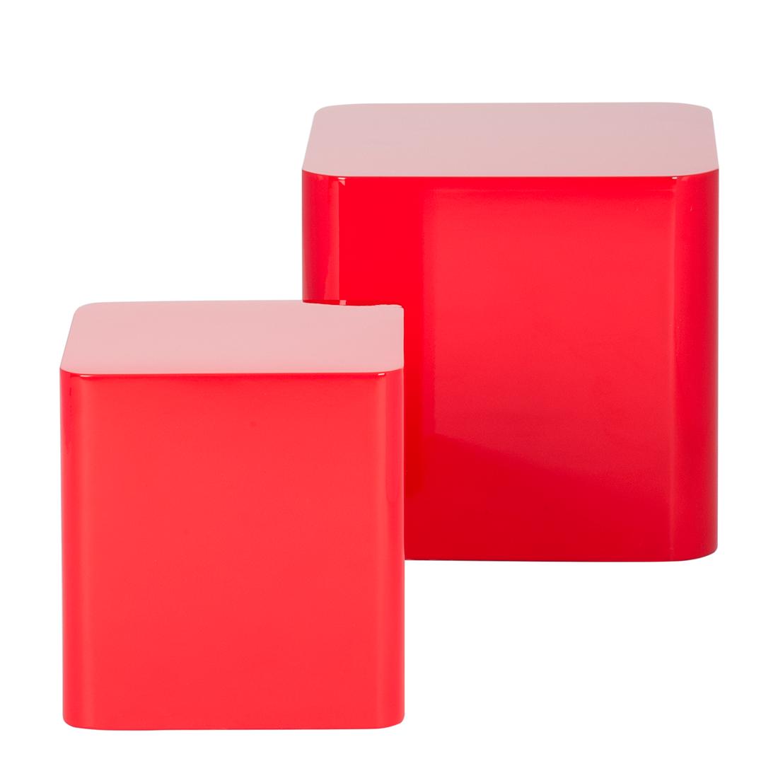 rot wohnzimmer: Beistelltisch Rot Hochglanz Couchtisch Wohnzimmer Sofa Couch Tisch NEU