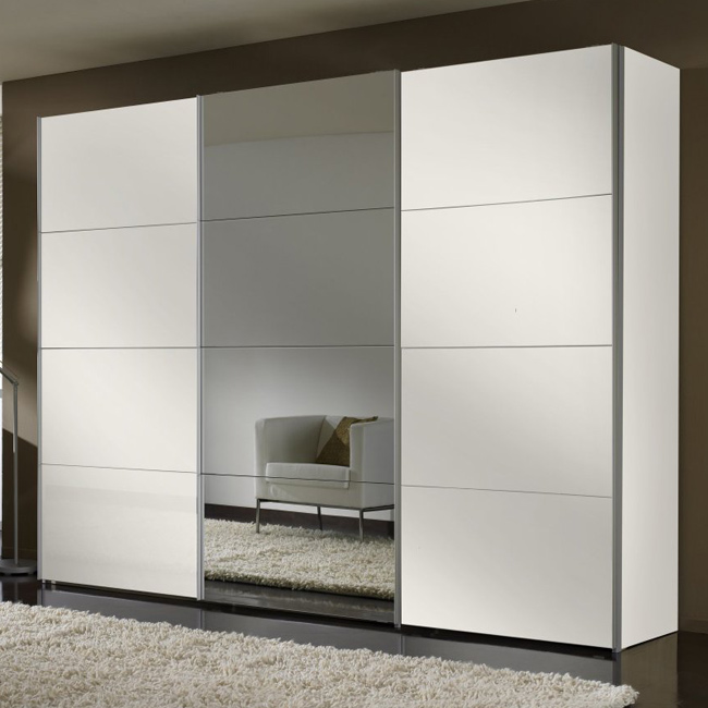 schwebet renschrank 3 t rig mit spiegel kleiderschrank schlafzimmer schrank neu ebay. Black Bedroom Furniture Sets. Home Design Ideas