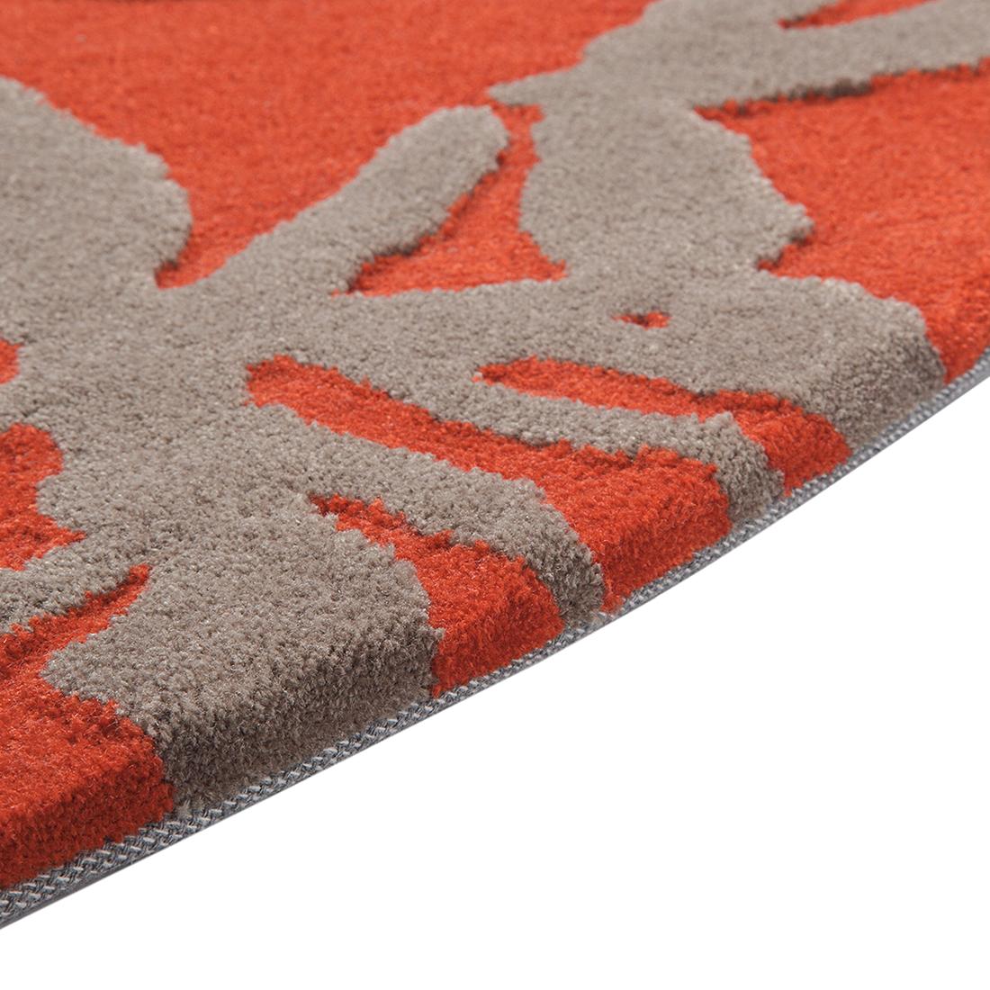 Teppich orange  Teppich Fußboden Läufer Brücke Hochflor 250x250cm Floral Rund ...