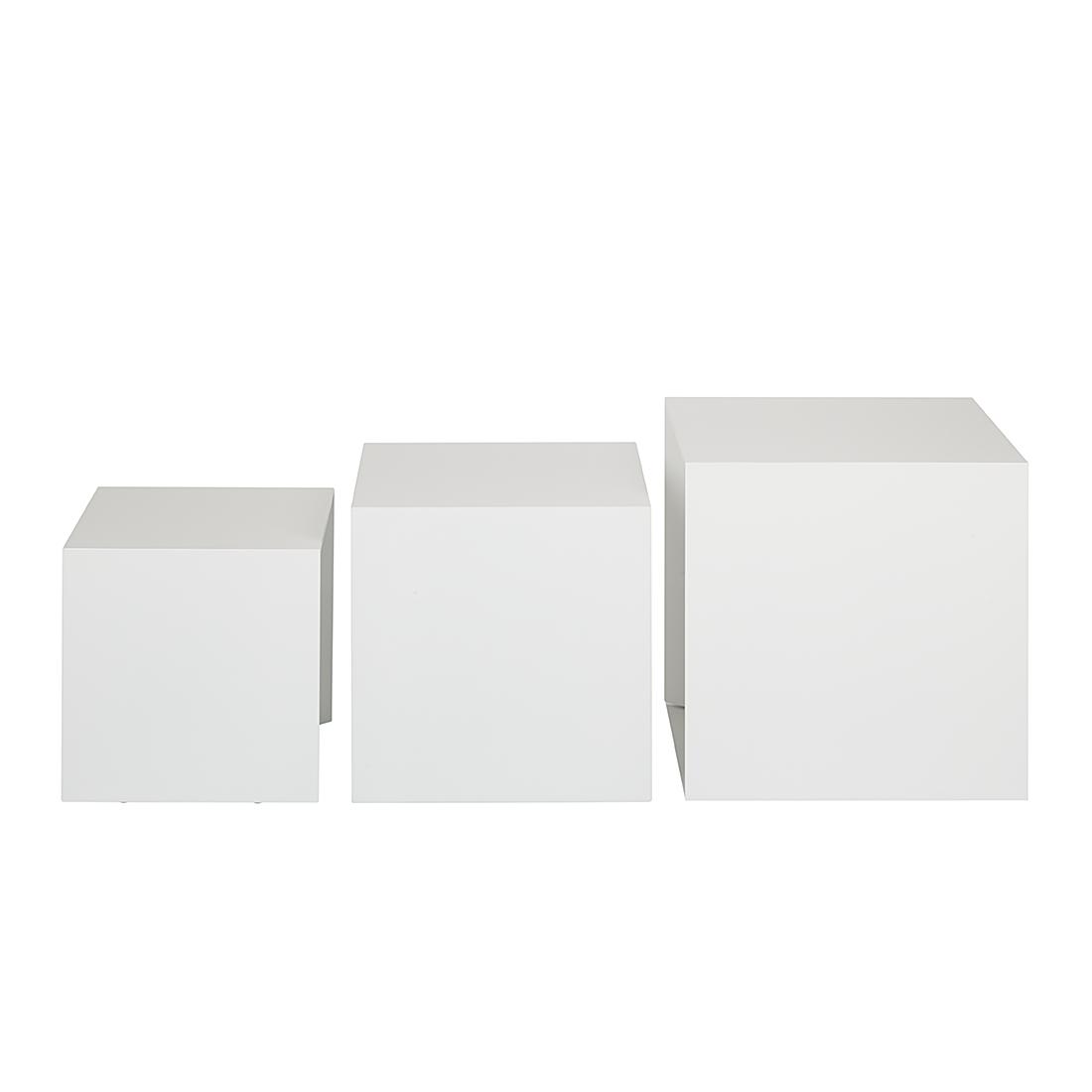 beistelltisch 3 teilig weiss bestseller shop f r m bel und einrichtungen. Black Bedroom Furniture Sets. Home Design Ideas