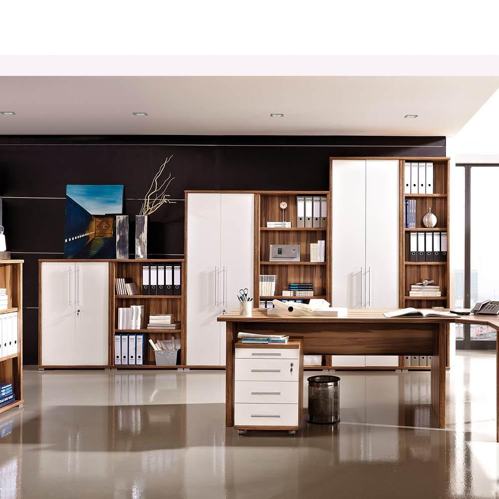 aktenschrank baltimore walnuss versch gr en b roschrank b ro schrank neu ebay. Black Bedroom Furniture Sets. Home Design Ideas