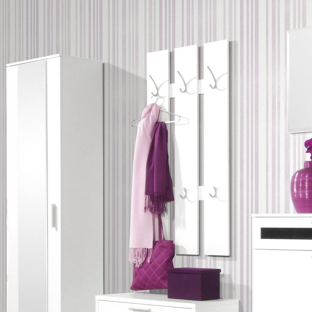 gaderobenpaneel wandgarderobe wei paneel gardeorbe hakenleiste h ngegarderobe ebay. Black Bedroom Furniture Sets. Home Design Ideas