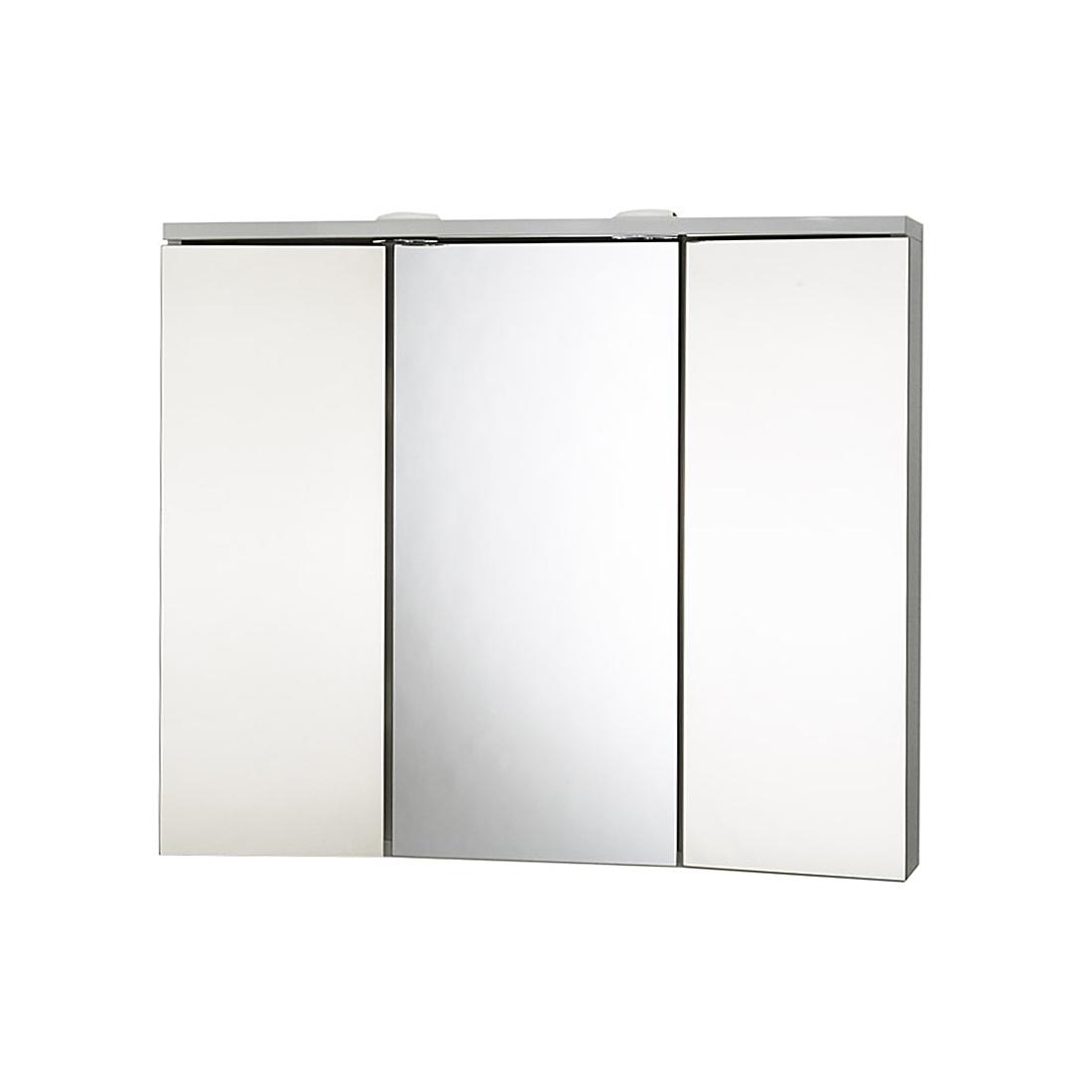 Spiegelschrank 3 türig Weiß Beleuchtet Badezimmerschrank Bad