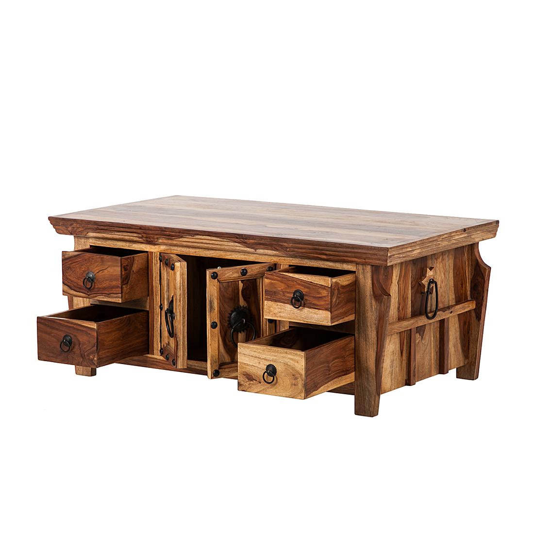 Truhentisch Honigfarben ~ Truhentisch Sheesham massiv Beistelltisch Schatztruhe Holztruhe Holz