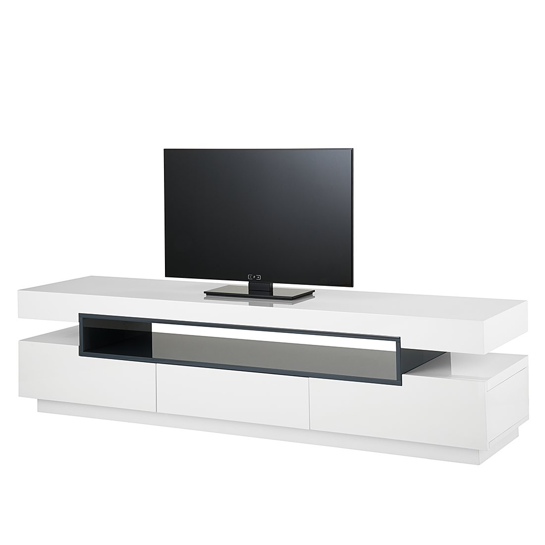 Affordable Awesome Cool Lowboard Mdf Weiss Grau Hochglanz Tv Hifi Rack  Tisch Bank With Tv Mbel Ek With Tv Lowboard Grau Hochglanz With Tv Mbel Ek