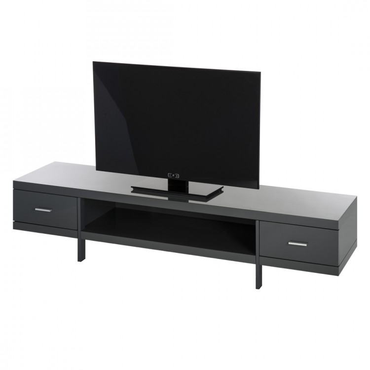 tv lowboard mdf grau hochglanz tv hifi rack schrank unterschrank tisch bank neu ebay. Black Bedroom Furniture Sets. Home Design Ideas
