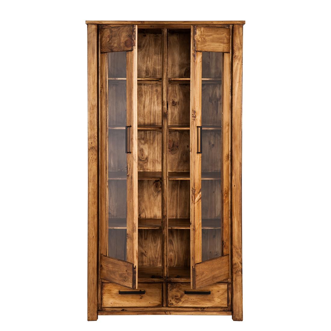 vitrine pinie massivholz 2 t rig hochschrank esszimmer k che buffet schrank neu ebay. Black Bedroom Furniture Sets. Home Design Ideas