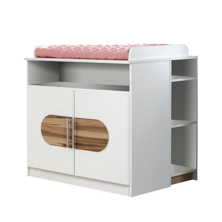 wickelkommode wickeltisch wei walnuss dekor babyzimmer. Black Bedroom Furniture Sets. Home Design Ideas