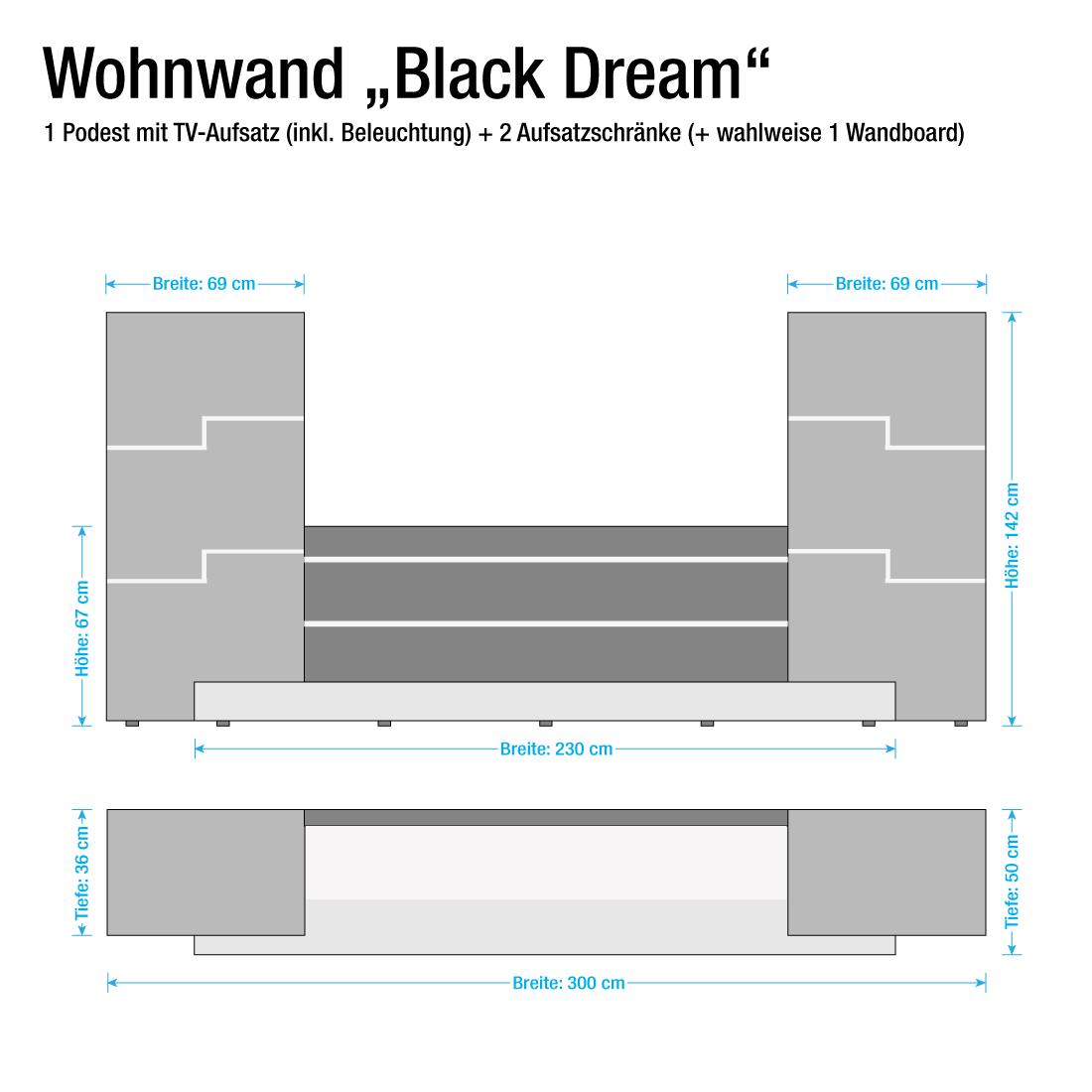 Wohnwand weis schwarz hochglanz alle ideen f r ihr haus for Tv schrankwand design