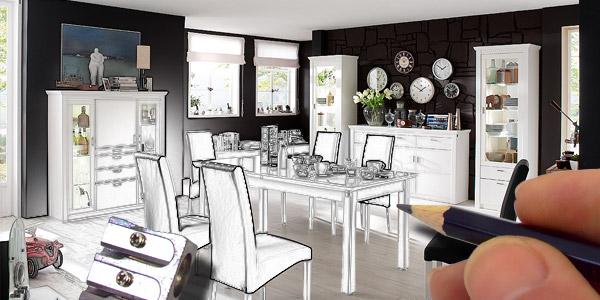 esszimmer planung online bei home24 entdecken home24. Black Bedroom Furniture Sets. Home Design Ideas