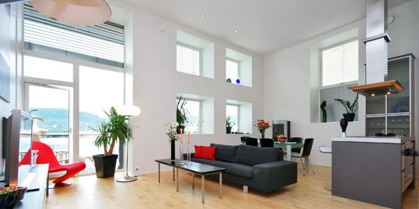 Wohnprobleme l sen hohe decken home24 - Grose wohnzimmer wandgestaltung ...