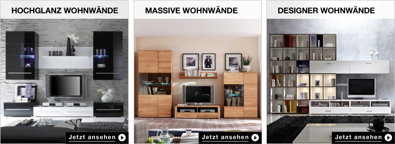 wohnw nde im home24 online m belshop jetzt kaufen home24. Black Bedroom Furniture Sets. Home Design Ideas