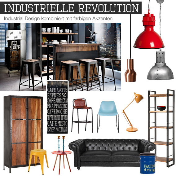 exklusive einblicke stile trends industrial style home24. Black Bedroom Furniture Sets. Home Design Ideas