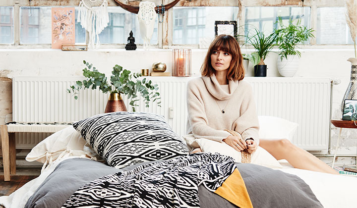 cozy cocooning collection von supermodel eva padberg. Black Bedroom Furniture Sets. Home Design Ideas