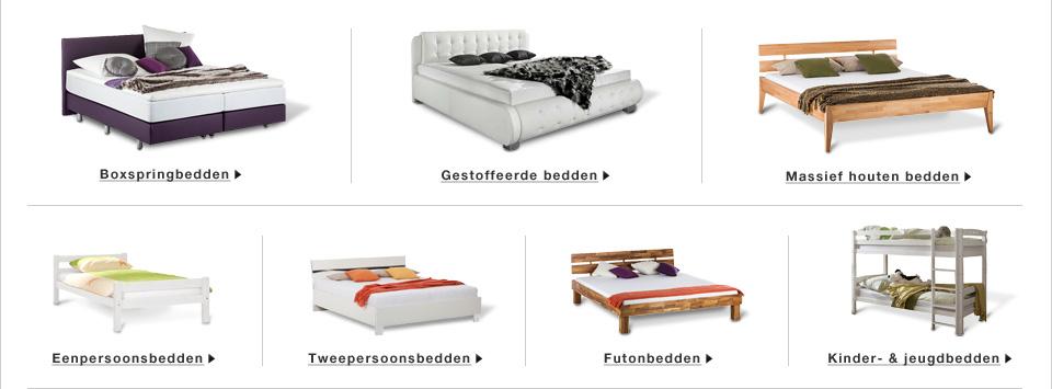 bedden online kopen. Black Bedroom Furniture Sets. Home Design Ideas